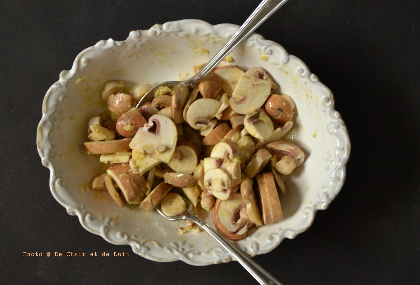 salade de champignons crus sant nutrition. Black Bedroom Furniture Sets. Home Design Ideas
