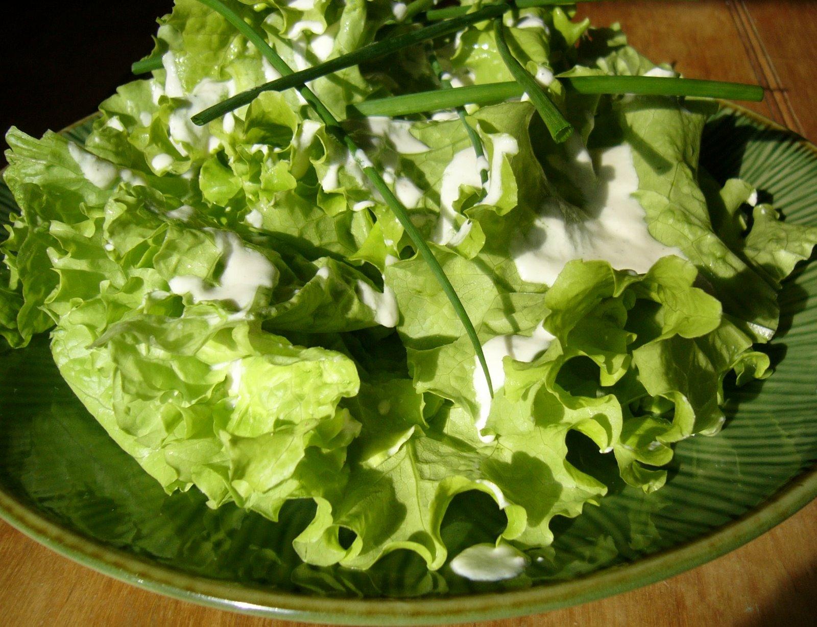 salade frisée à la crème