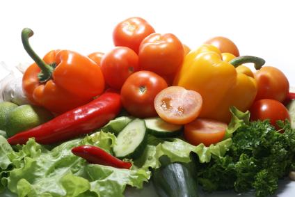 Fresh tasty vegetables isolated on white
