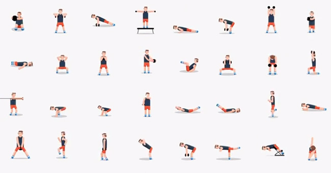 48 exercices pour perdre du poids, gagner du muscle