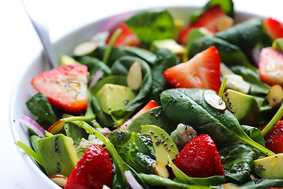 salade-fraise-epinards