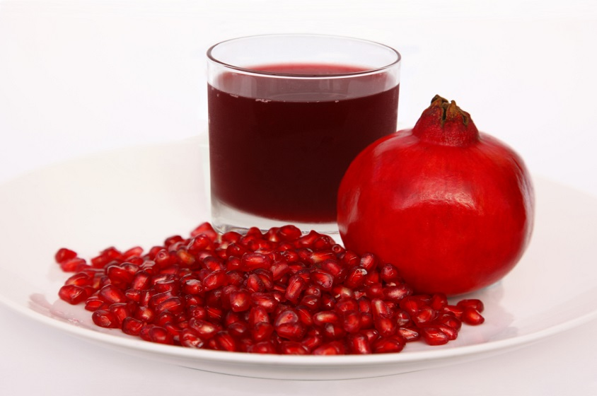 A feast of fresh pomegranate.