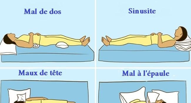 neuf positions de sommeil pour favoriser le r tablissement sant nutrition. Black Bedroom Furniture Sets. Home Design Ideas