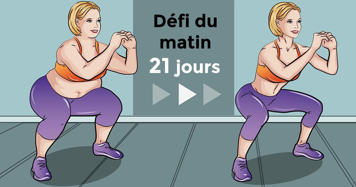 Le défi du matin de 21 jours qui peut vous aider à réduire la graisse
